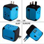 Adaptador Enchufe de Viaje Universal Dos Puertos USB para US EU AU de 150 Países