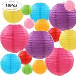 "Gertong Linternas de Papel Coloridas de 16 Piezas (Tamaño de 4 "", 6"", 8 "", 10"") Papel Chino/Japonés"