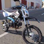 Pit Bike 125CC 14/12 SKULL/Dirt Bike con motor de 4 tiempos y arranque eléctrico. Mini moto