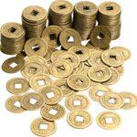 200 Piezas de Monedas Chinas Feng Shui Moneda de Buena Suerte Monedas