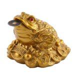 FTVOGUE Dinero Rana Feng Shui Chino Riqueza Afortunada Moneda Sapo