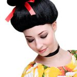 WIG ME UP Carnaval, Peluca, Geisha, Asia Japón, Estilo Cosplay japonés, China Girl Negro, 2120-P103